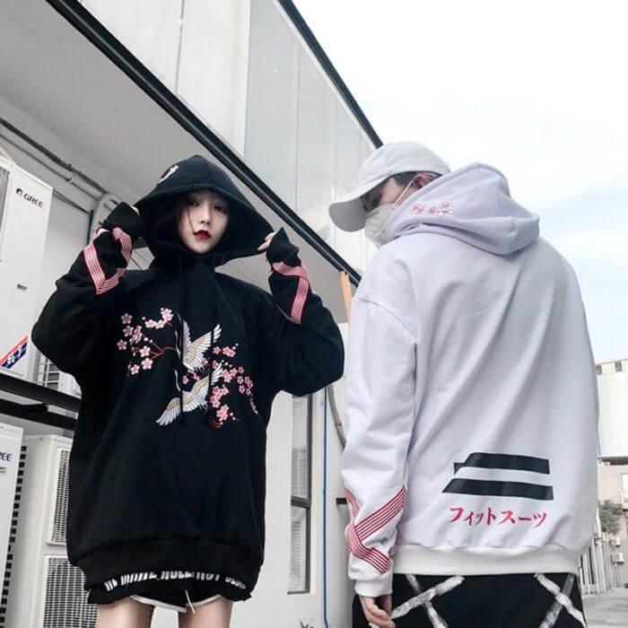 Kawaii style hoodies