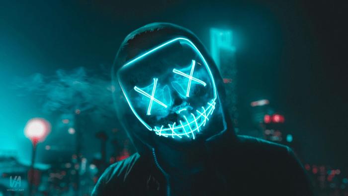 Mask with LED Lights